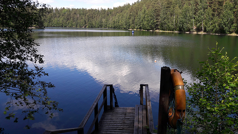 Pristine waters of Lake Ahvenisto welcomes swimmers all year round!